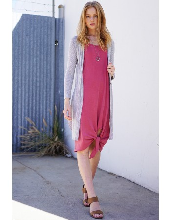 French Terry Tied Hem Dress